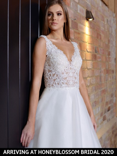 Catherine Parry Cassandra bridal gown arriving soon to Honeyblossom Bridal boutique