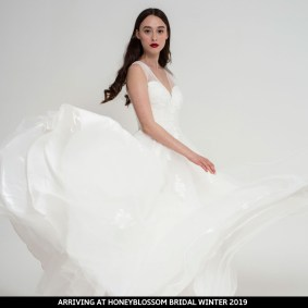 Freda Bennet Florence wedding dress arriving soon to Honeyblossom Bridal