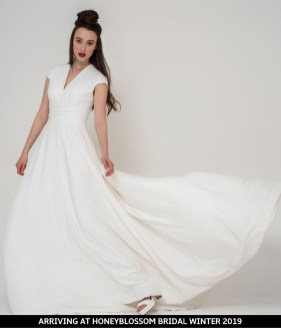 Freda Bennet Stella bridal dress arriving soon to Honeyblossom Bridal