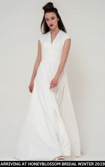 Freda Bennet Stella wedding dress arriving soon to Honeyblossom Bridal