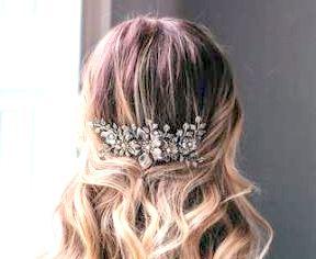 Industrial floral bridal haircomb - Harmonia
