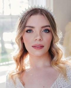 Silver spiked bridal crown - Elpis