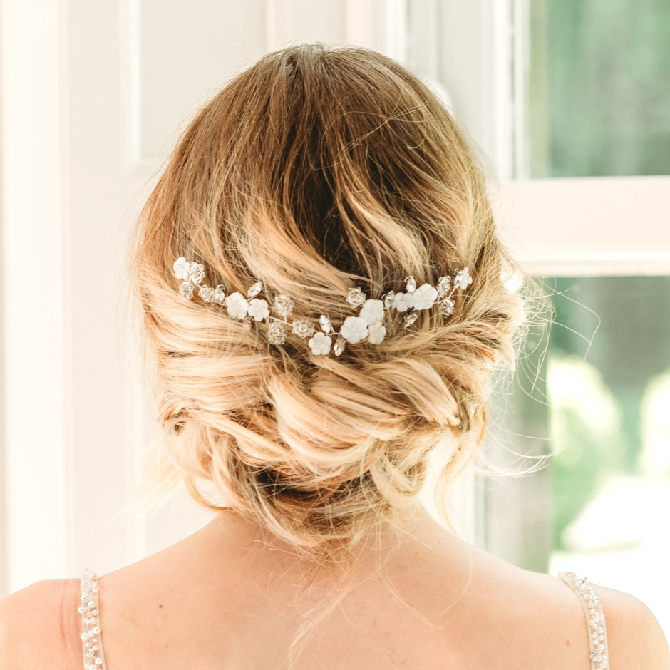 Mother of pearl bridal hairvine - Alessandra