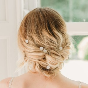Pearl bridal hair pins - Ayla