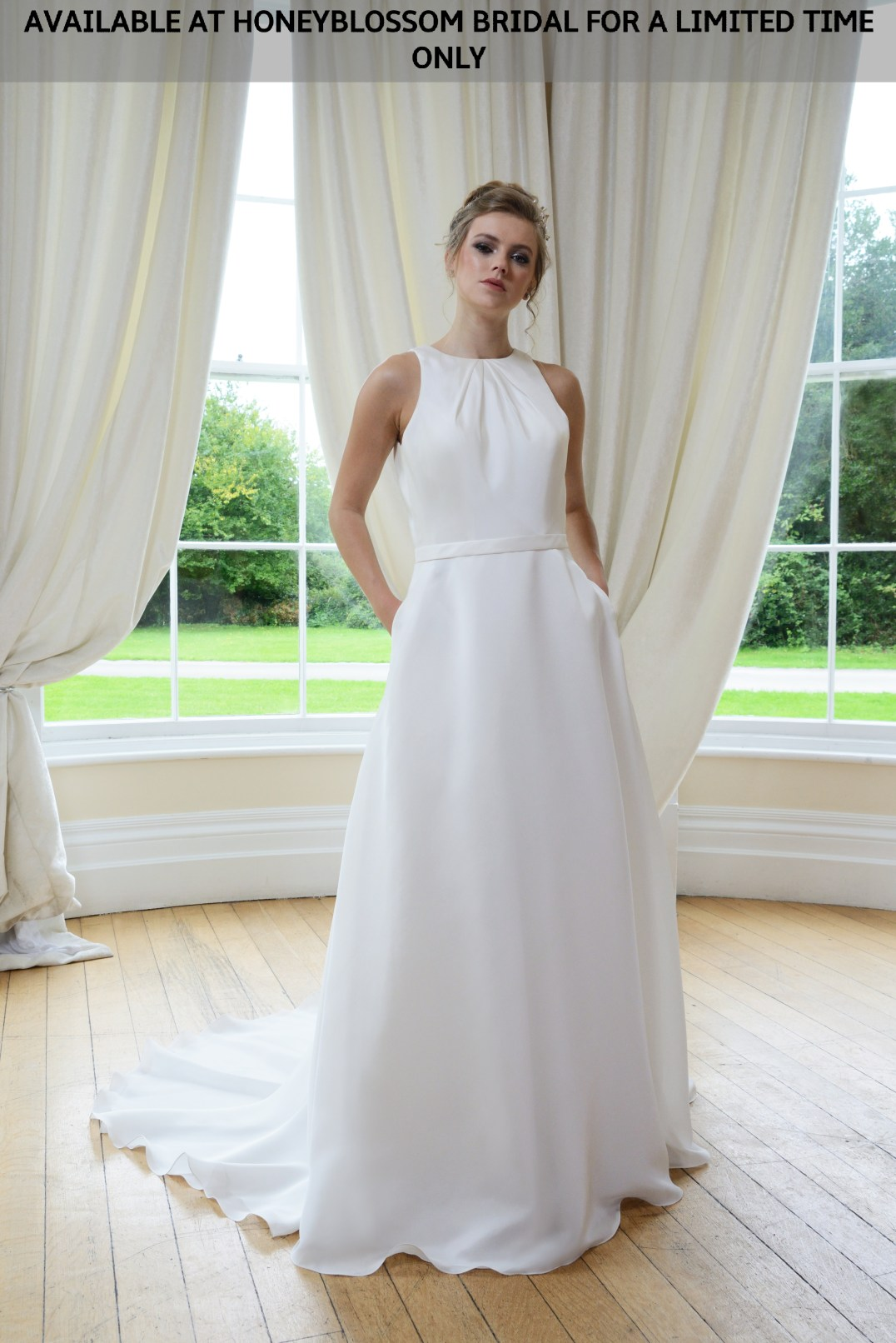 GAIA Cate wedding dress - Available at Honeyblossom Bridal for a limited time only