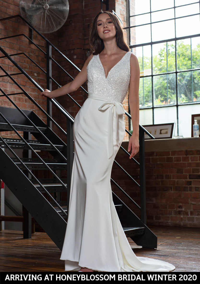 Freda Bennet Hope wedding gown arriving soon to Honeyblossom Bridal