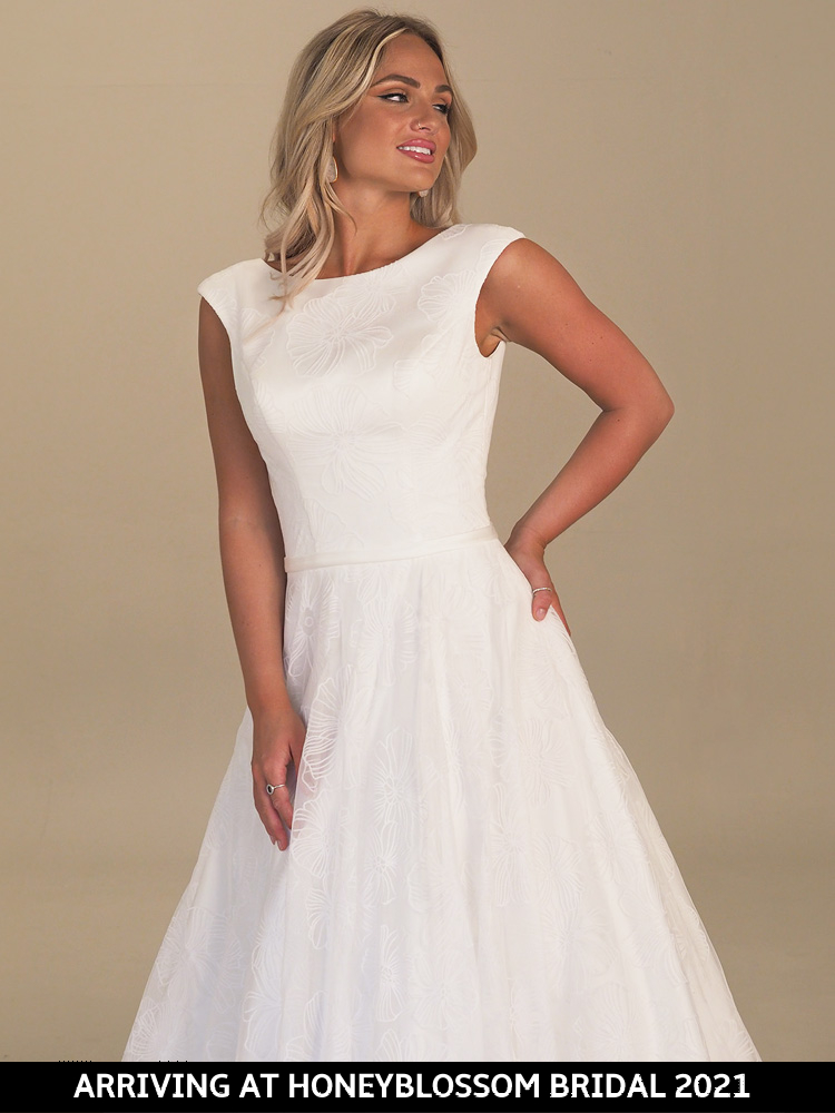 GAIA Maxime bridal dress arriving soon to Honeyblossom Bridal boutique