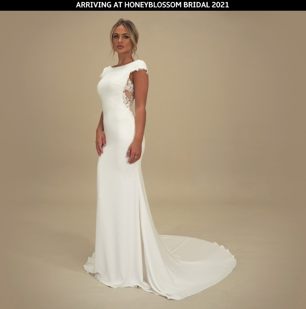 GAIA Sanremo bridal gown arriving soon to Honeyblossom Bridal boutique