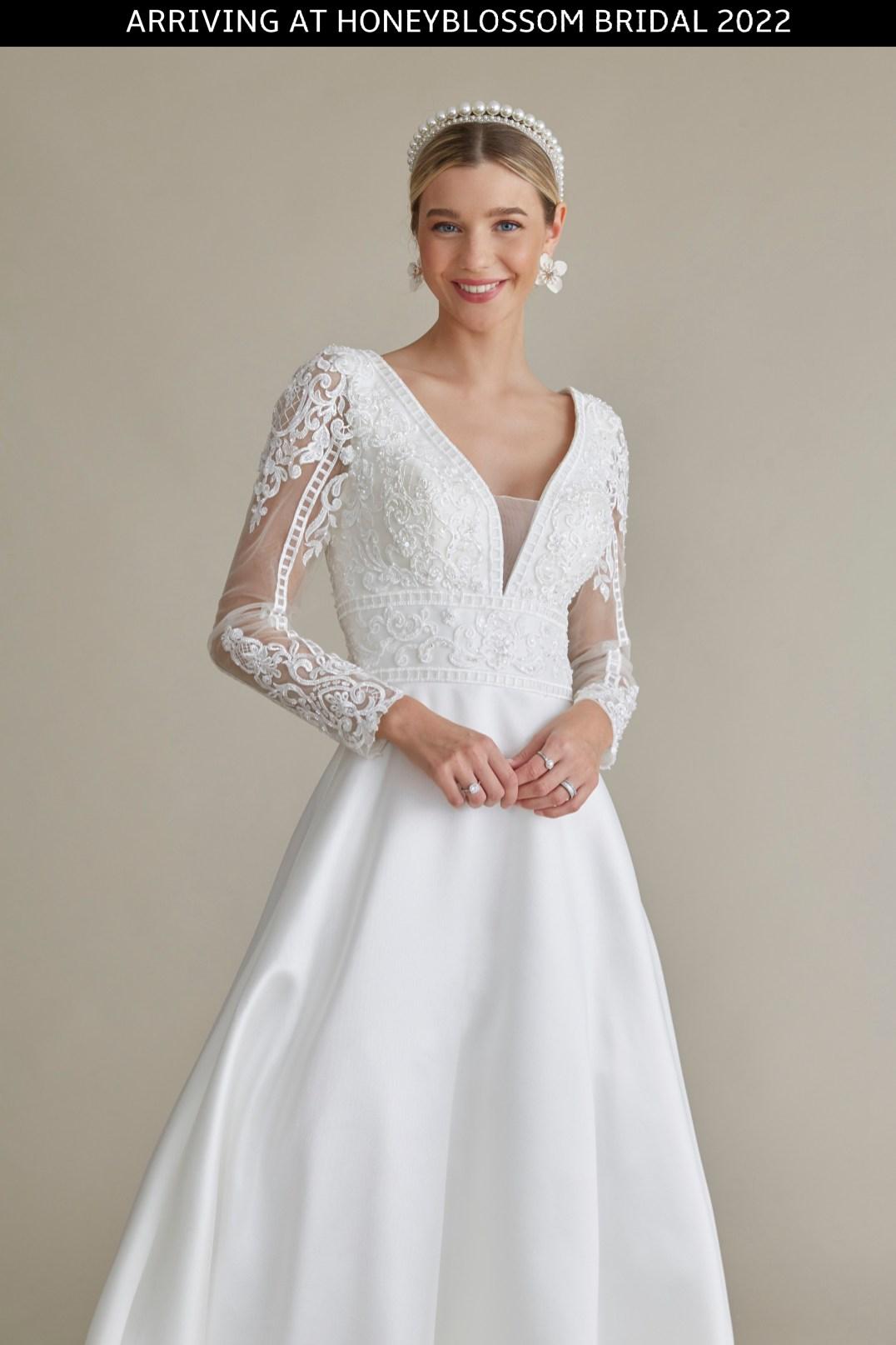 MiaMia Blair wedding dress arriving soon to Honeyblossom Bridal