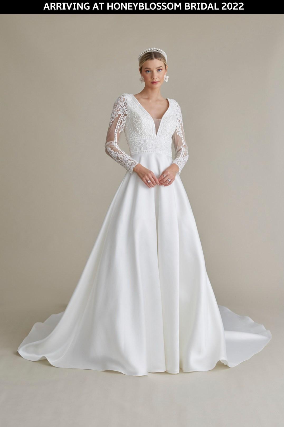 MiaMia Blair wedding gown arriving soon to Honeyblossom Bridal