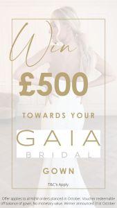 Win £500 off your dream GAIA wedding dress at Honeyblossom Bridal