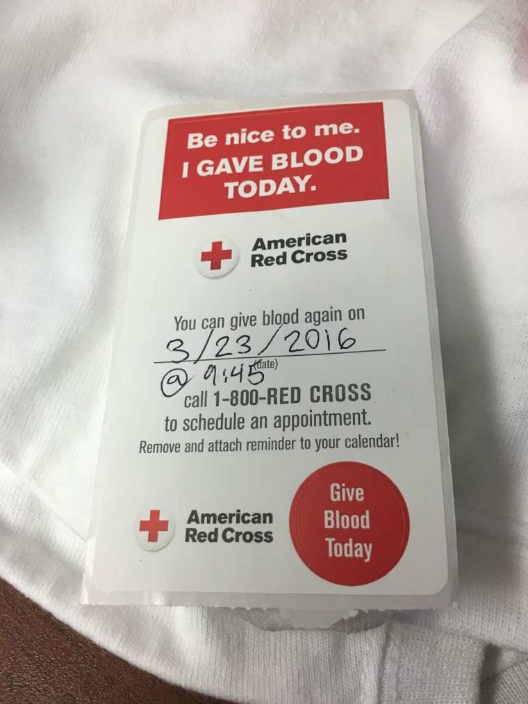 red cross sticker