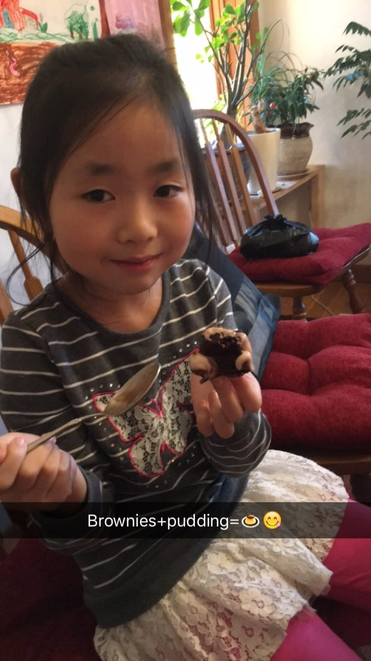 brownies pudding girl
