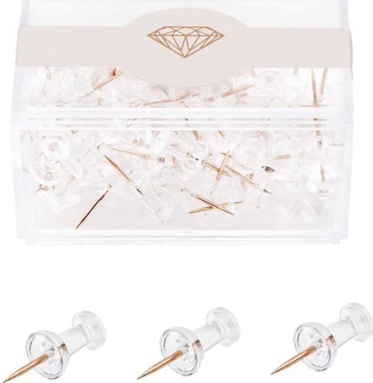 rose gold thumbtacks pins