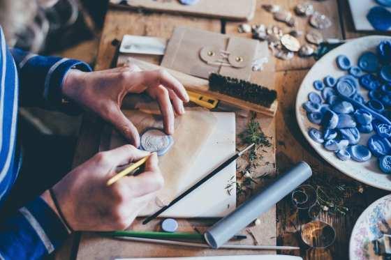 Hands Working on a Craft Annie Spratt Unsplash Crafting
