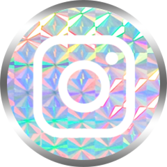 honeybunnytwee iridescent instagram social media icon
