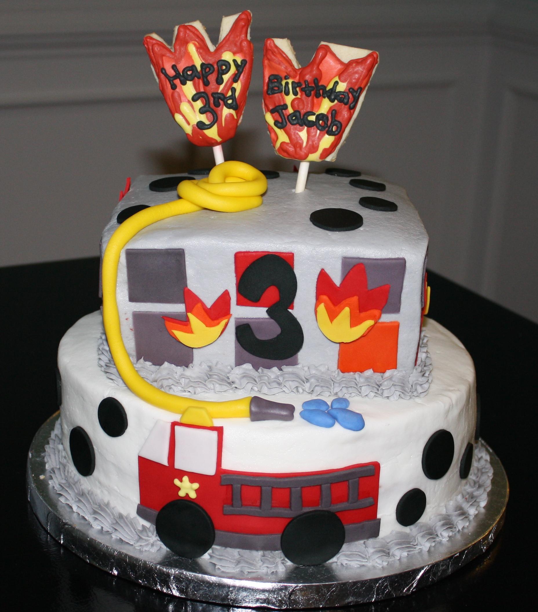 Fireman birthday  Honeycombs Cookie Company