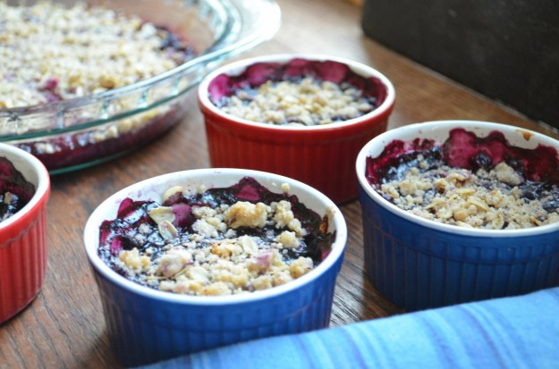 Berry Crisp With Pinenut Hazelnut Topping