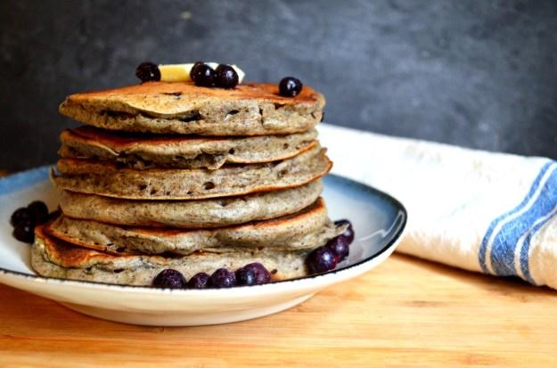 Blueberry Buckwheat Pancakes
