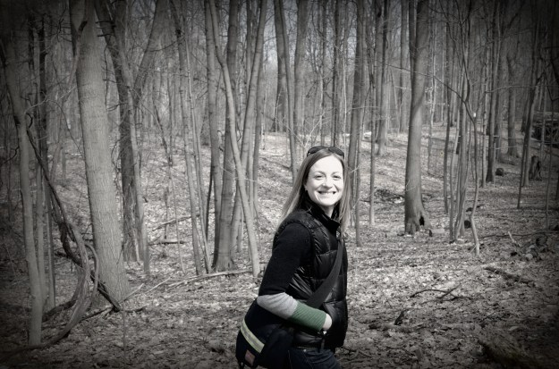 Walking through the woods--and just so happy to be outside!