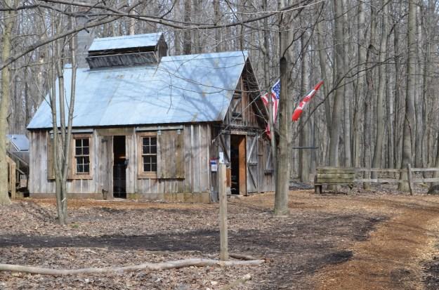 The sugar shack at Blandford Nature Center