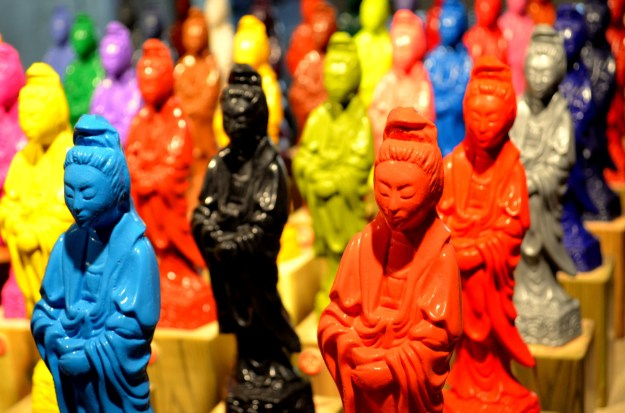 An Art Prize exhibit...these figurines were made by melting Crayola crayons into molds.