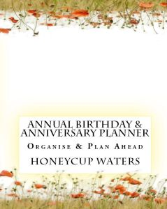 Honeycup Waters annual birthday and anniversary book cover