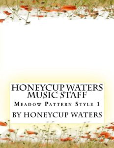 honeycup waters music staff book cover