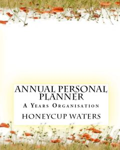 Honeycup Waters annual personal planner book cover
