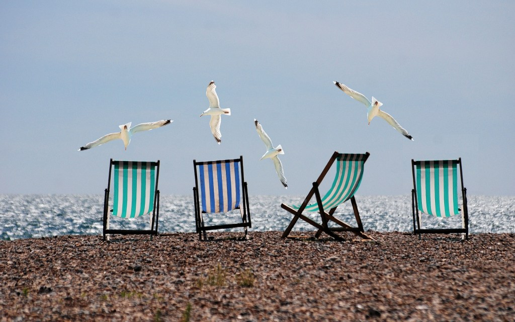 Holidays image of deck chairs. Perfect for relax in a few minutes