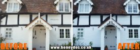 COTTAGE EXTERIOR REPAIRED & PAINTED
