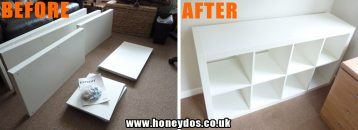 IKEA FLAT PACK UNIT ASSEMBLY