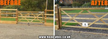 PADDOCK GATE SIGN FITTED