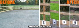 HORSE PADDOCK SIGNS FITTED