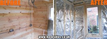 SHED WALL INSULATION FITTED