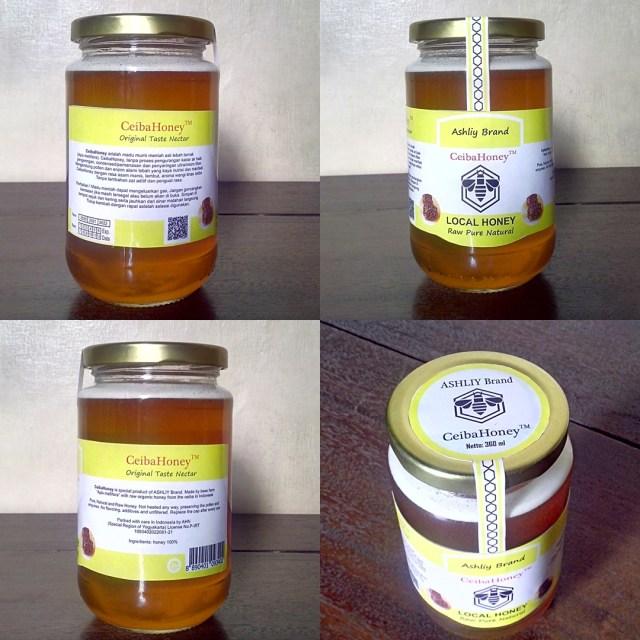 CeibaHoney ASHLIY Brand 360ml JAR (toples) Kaca