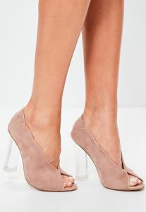 peep toed shoes talon transparent