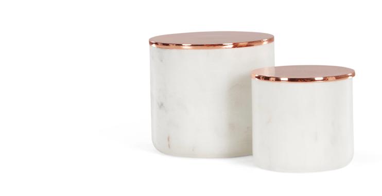 rangement marbre cuivre