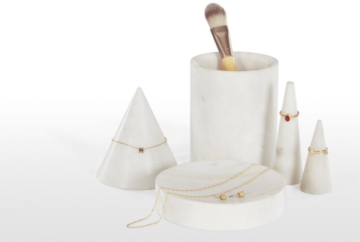 kit rangement bijoux marbre