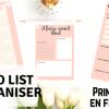organiser listes printables
