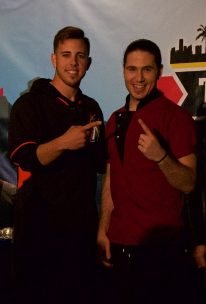 The winning team - Miami Marlins pitcher José Fernandez (L) and celebrity Chef James Tahhan @ Taste of Miami 2015