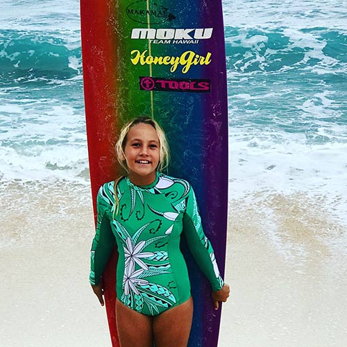 Colleen Long Sleeved One Piece Tiare Nui Jade  Honey Girl