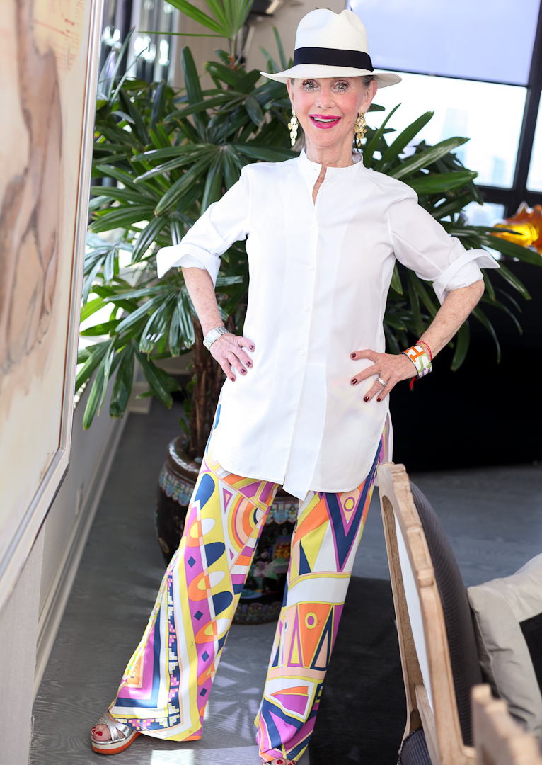 Honey Good shares her Pucci pants and what dressing your age after 50 means