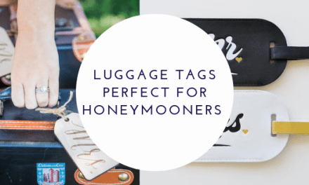 Cute Luggage Tags Perfect For a Honeymoon