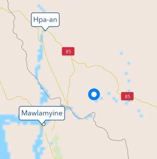 burmese map myanmar