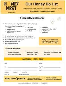 honeynest-hvac-maintenance-agreement