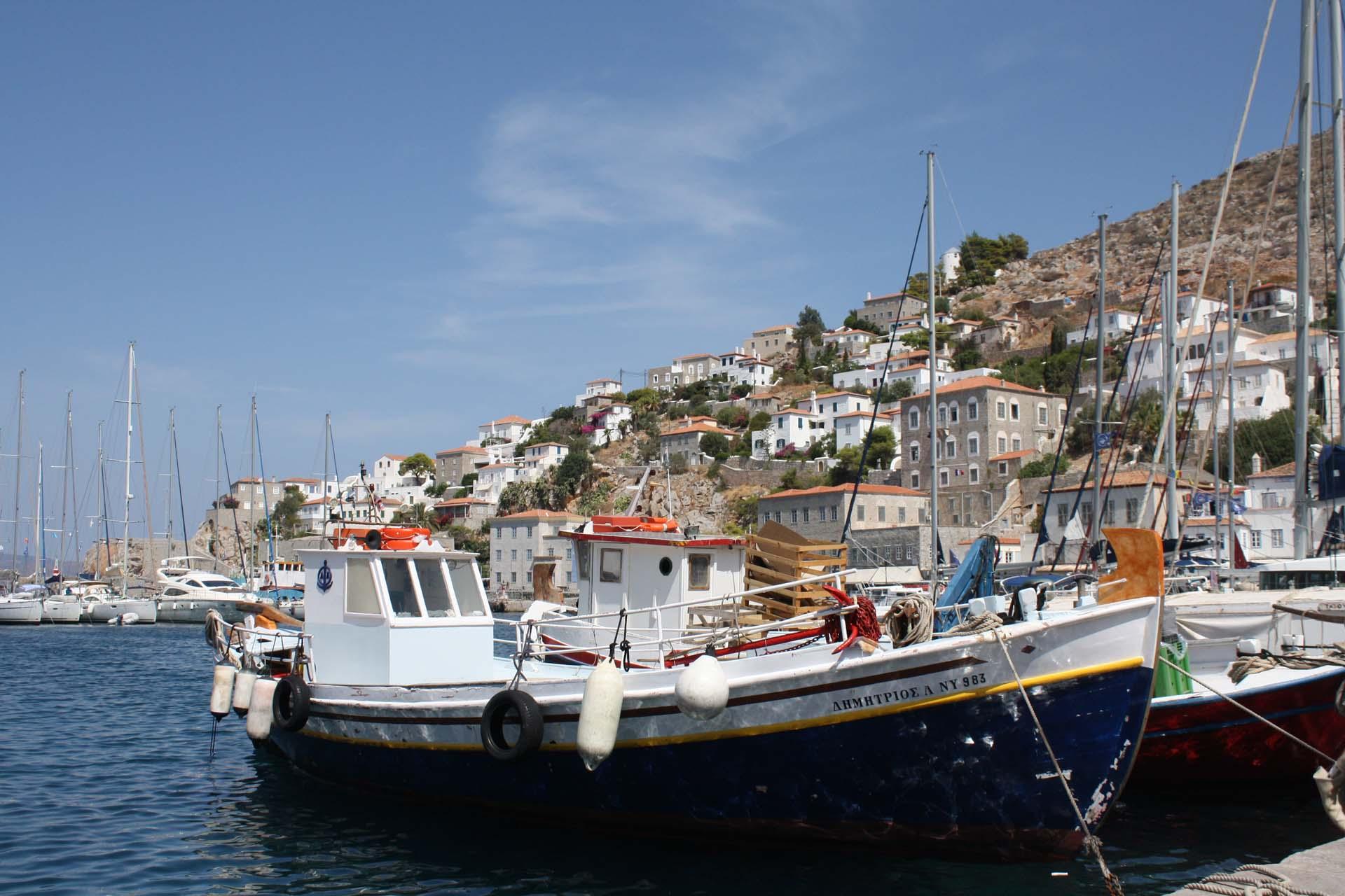 Bateaux du port d'Hydra