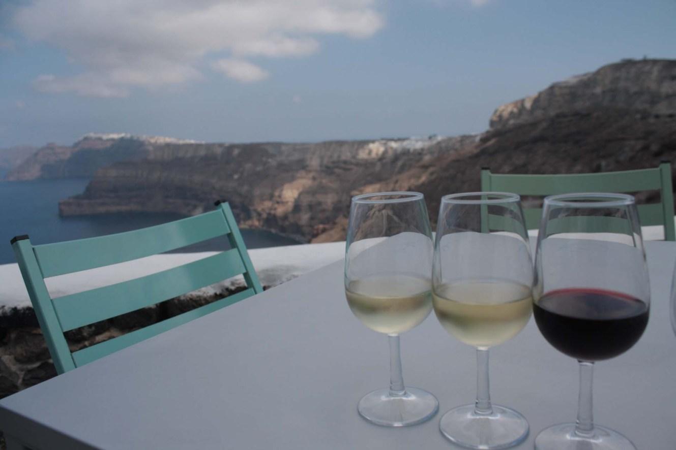 Dégustation de vins à Santorin