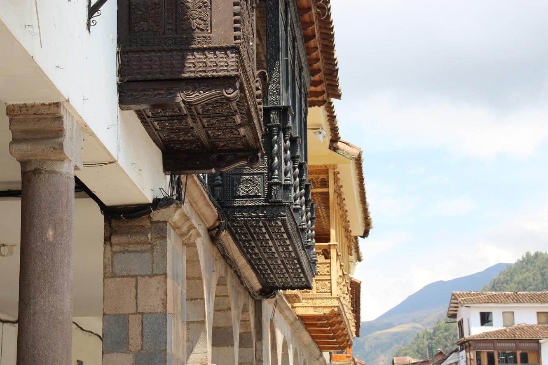 Cuzco terraces Plaza de Armas