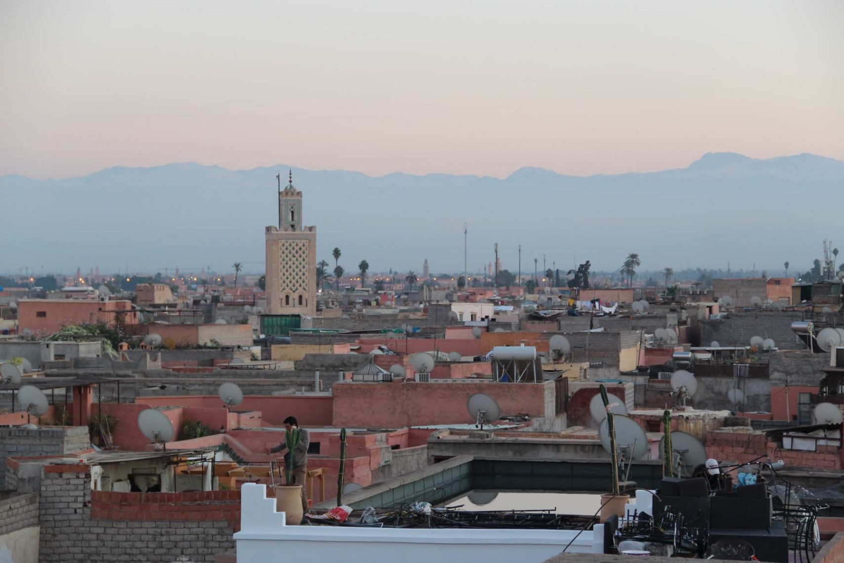 View of Marrakech from the photography museum